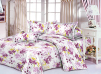 100% polyester microfiber pigment printed bed sheet fabric for home textile with competitive price and quality