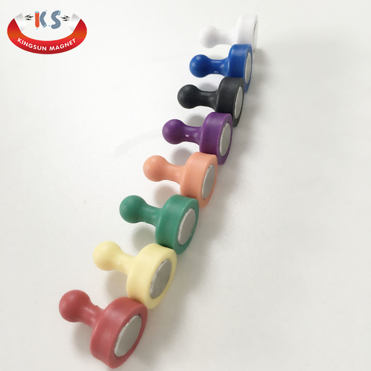 Plastic N35 Pushpins Whiteboard Magnetic Push Pins For Wholesale