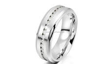 Wholesale Polished Women Large Size Stainless Steel Rings Jewelry