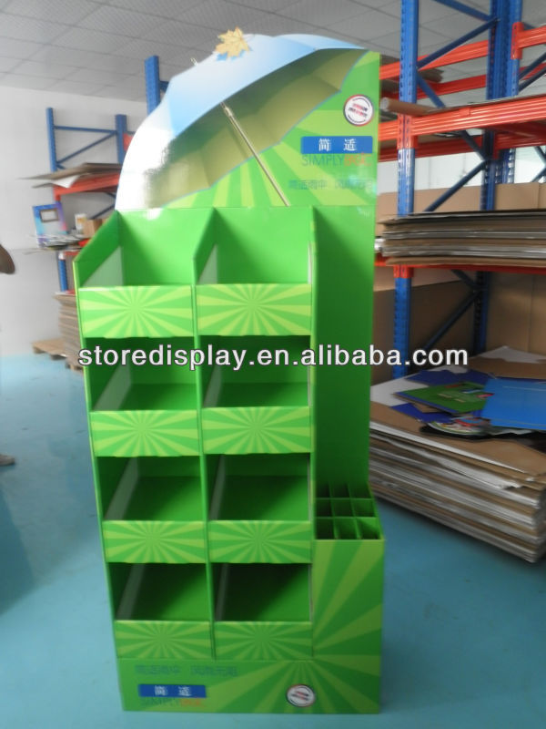 Cardboard FSDU Umbrella Display Stand