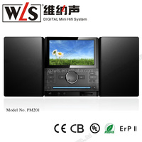 2.0CH Micro Mini Combo PM201 with portable dvd player support fm radio karaoke home theater system