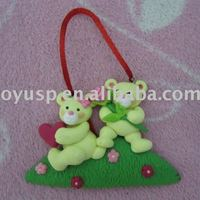 Polymer Clay Bear Pendant Couple Lover