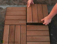 Outdoor Carbonized Color Strand Woven Bamboo Decking Tile Unit