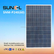 240 watt photovoltaic solar panel for sale