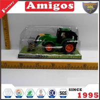 nice price Friction farm truck green/yellow wholesale agricultural toy