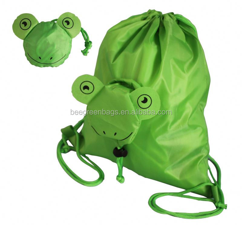 Promotional folbale childrens drawstring bags kids string back pack for child