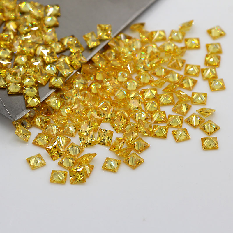 Yellow, Pink, Orange, Olive Color 4A CZ Synthetic Stones Cubic Zirconia Price