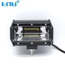 Automotive Led Light 5inch 72w 12-24v Super Bright Flood Led Work Light Bar 4x4