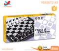 Educational folding magnetic chess checkers pieces board game set toy
