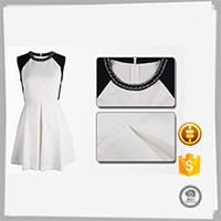 Wholesale sleeveless women smart casual sex wear