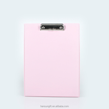 Hot selling A4 plastic pvc writing clip board Pvc stationary clip