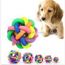 Hot colorful ball cat&dog toy with bell for small medium large dog pet product
