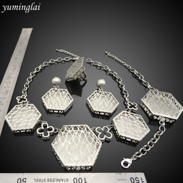 cheap price african fashion jewelry sets silver