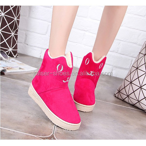 MN16113014 lady flat casual shoes warm winter snow boots mother and daughter shoes