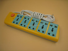 EU 5 way industrial extension power strip for Thailand Indonesia Singapore etc