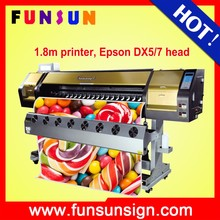 hot selling printer Funsunjet FS-1802G 1.8m corrugated cardboard flatbed printer machine with two Dx5 head 1440 dpi