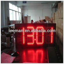 "electronic gas sign LED clock humidity sign ip65 outdoor 4 digits 10"" large led time temperature display"