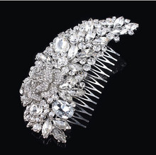 Wholesale Wedding hair accessories Bridal Hair comb rhinestones hair piece
