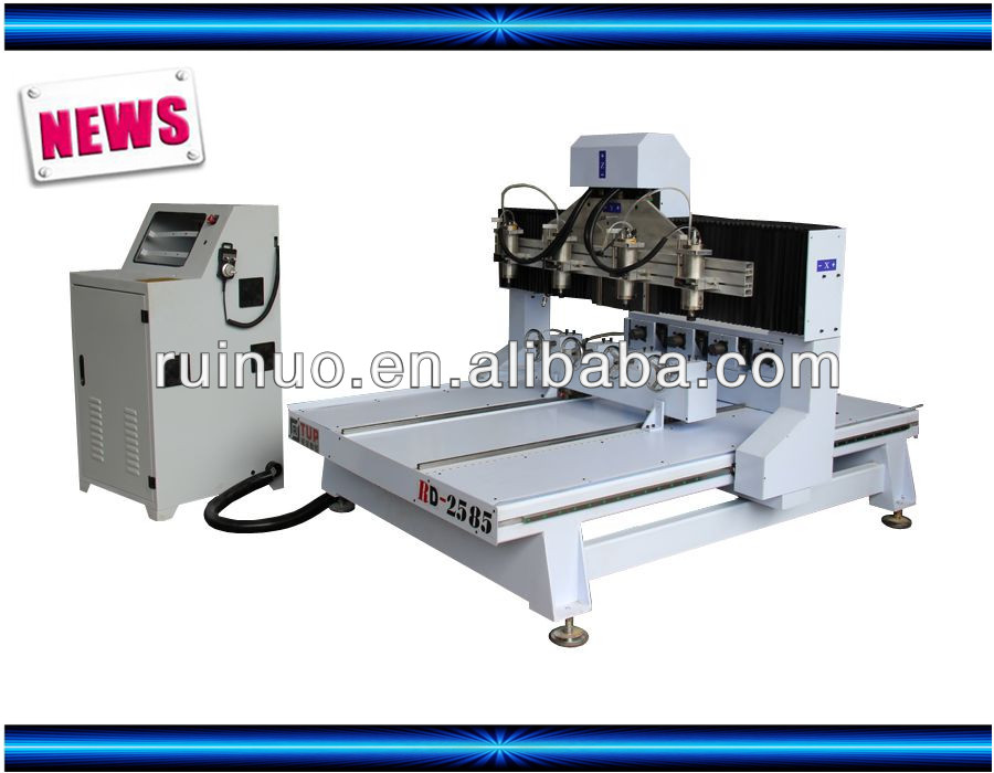 RD2585-4 4 AXIS cnc router for cylindrical process
