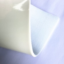 White synthetic laminated PVC leather for football cover