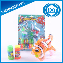 Flashing clownfish plastic fish bubble gun with music and double bottle