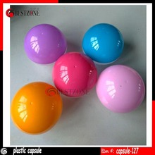 bulk empty toy vending plastic capsules 127mm
