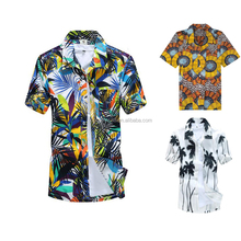 China cheap wholesale plus size custom printed hawaiian shirt