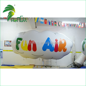 Hanging Inflatable Cloud Ball , Inflatable LED Lighting Clouds for Party