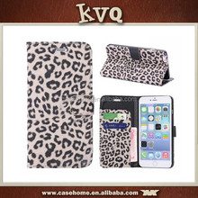 For iphone5/5s Leopard Grain Leather Wallet Flip Case Cover