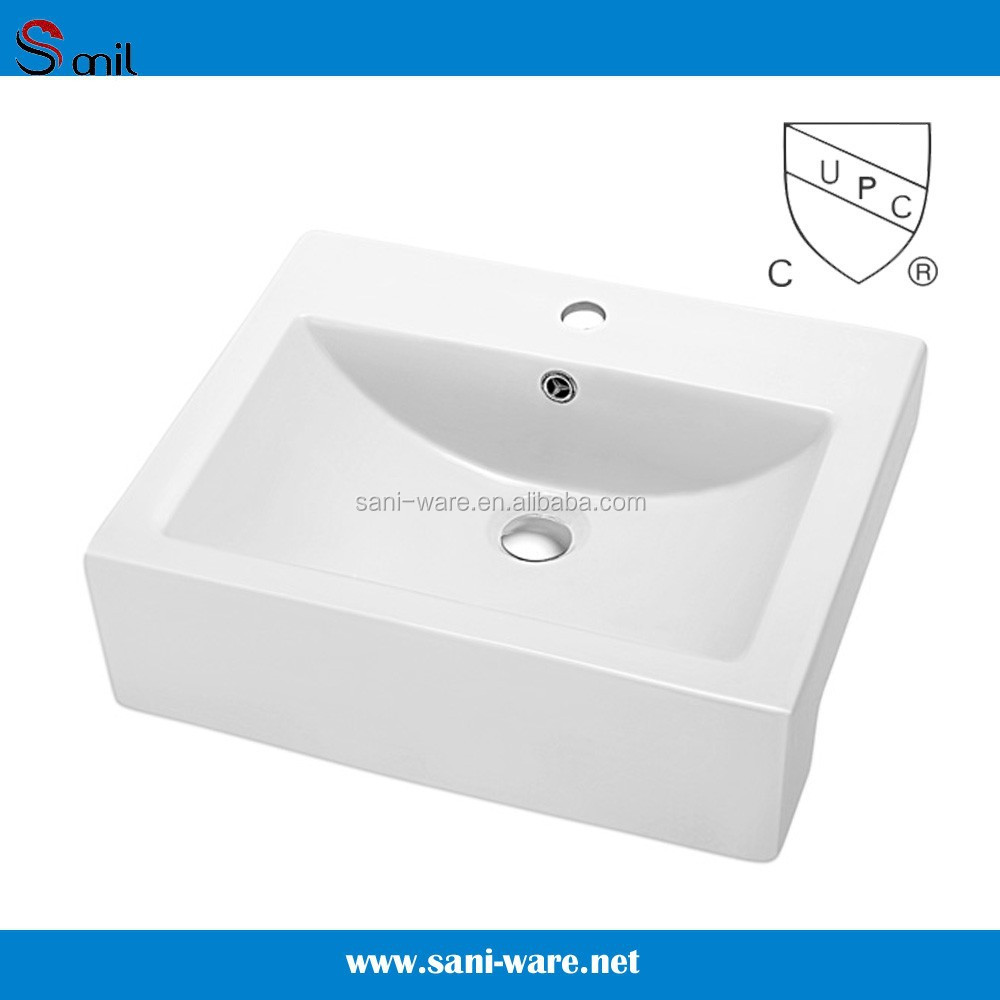 SN118-229 china factory ceramic single faucet hole hair wash sink