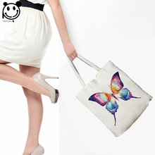 China Wholesale Multicolor Handlebag Custom Tote Print Fabric Shopping Bag Women Shopping Bag