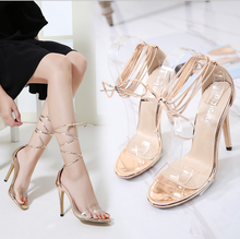 X86292A new model sexy ladies fancy bandage jelly sandals women sandals shoes 2017