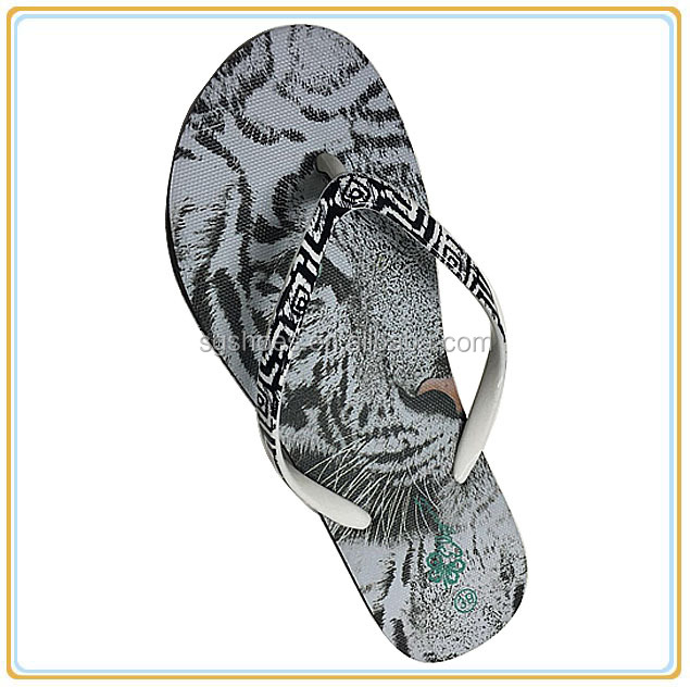Women animal plain black cheap flip flops