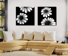 Newest High Quality Cheap Simple Frameless Sunflower Cheap Stretched Canvas Prints for Home Decoration