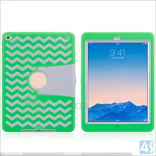 For Ipad Air 2 Case Hybrid Dual Kickstand Hard Soft Tpu Protector Case For Ipad Air 2