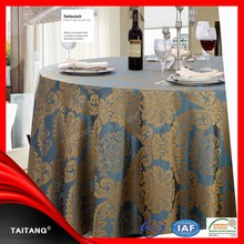 New Series Polyester Jacquard Wholesale TableCover Turquoise Tablecloth
