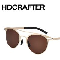 Vintage Men and Women Retro Round Peace Fashion Summer sunglasses
