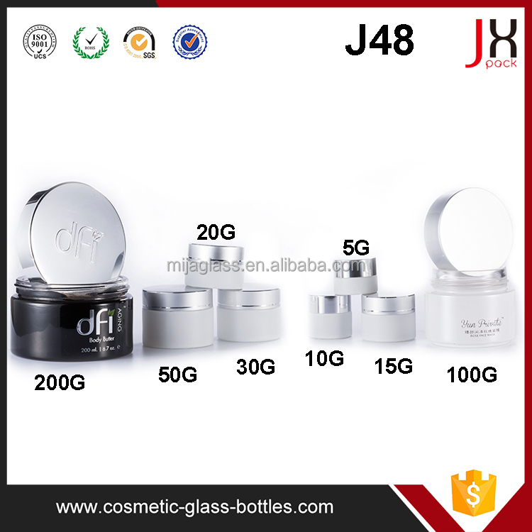5ml 10ml 15ml Small Cosmetic Glass Jar Cosmetic Cream Jar Container With Metal/Plastic Lids