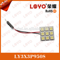 White car interior T10/BA9S/Festoon LED light lamp panel adapter 12V light led for car