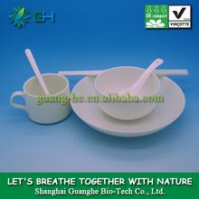 100% biodegradable eco-friendly material galactite plastic polylactic acid/PLA dinnerware sets