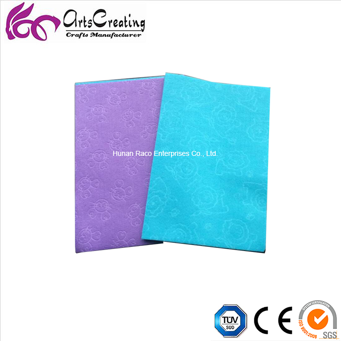 embossed color felt sheet dyed pattern recyclable polyester fabric felt