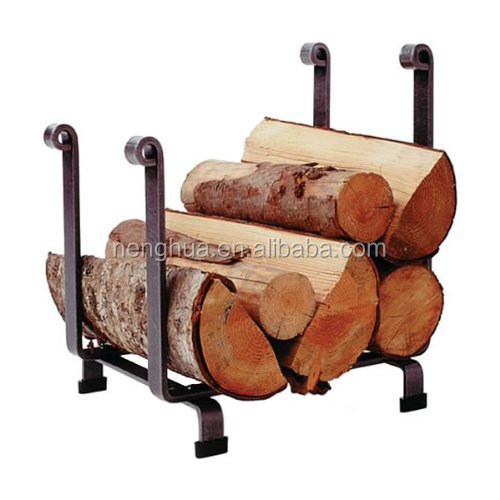 Fireplace Tools Hammered Steel Hearth Log Rack