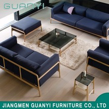 China cheap new living room furniture modern wooden leg fabric sofa