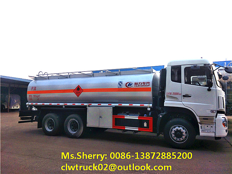 High performance Dongfeng 6*4 drive wheel 20-25CBM oil tanker truck for sale in UAE