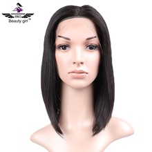 wholesale overnight delivery lace wigs human hair short style grey invisible hairline full lace wig 8 inch bob wig