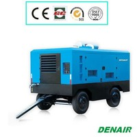 Diesel engine driven mining portable air compressor