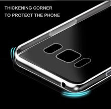 2017 HOT!Best price ultra thin 0.5mm clear and soft TPU transparent phone back case for Samsung s8 phone