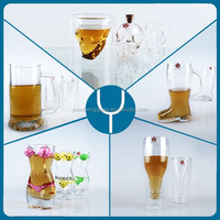 Personized custom fancy all types beer glass cup wholesale