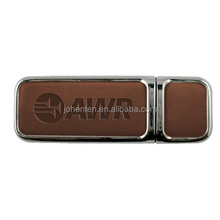 Hot Sale factory direct selling usb flash drive 500gb Brand Custom Leather Can be printed logo