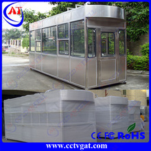 stainless steel pvc cladding board mobile kiosk / ticket booth